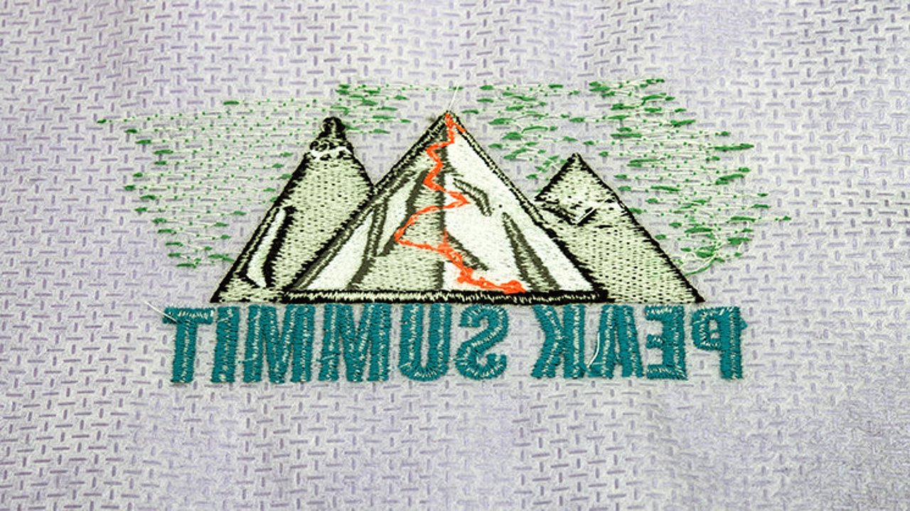 Back of an embroidery